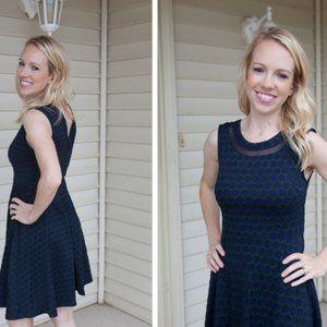 Navy/Green Textured Knit Dress from Stitch Fix